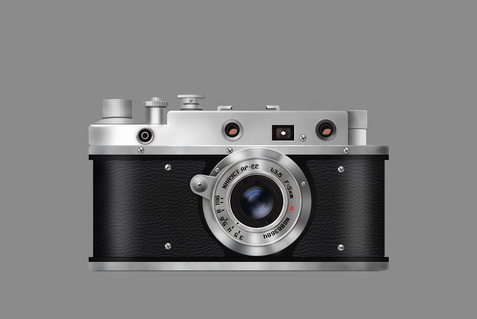 设计素材:复古相机临摹